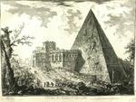 Veduta del Sepolcro di Caio Cestio [View of the Tomb of Caius Cestius]