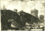 Veduta del Ponte Lugano su l'Anione nella via Tiburtina risarcito ne tempi bassi by Giovanni Battista Piranesi