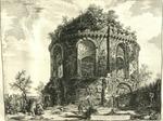 Veduta del Tempio, detto della Tosse su la Via Tiburtina, un miglio vicino a Tivoli