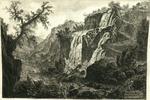 Veduta delle Cascatelle a Tivoli [View of a small waterfall at Tivoli]