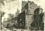 Rovine di uno degli allogiamenti de Soldati presso ad una delle eminenti fabbriche di Adriano nella sua Villa in Tivoli
