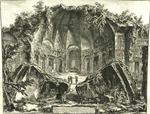 Avanzi del Tempio del Dio Canopo nella Villa. Adriana in Tivoli [Remains of the Temple of Dio Canopus in Hadrian's Villa at Tivoli]