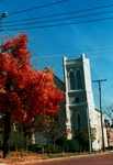 Photo of the outside of the Church during the Fall