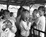 Dan Younger, Girls Queuing for Rabbit Judging, Junior Fair, Knox County Fair, Mount Vernon, OH, 1994