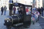 Man drives train full of children during Parade