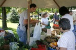 People Buy Vegetables in the Mount Vernon Public Square
