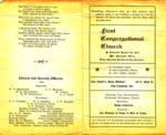Old Program from the First Congregational Church from 1903
