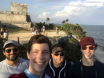 Group photo in front of Coba Ruins in Tulum (3/8/18)
