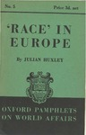 """Race"" in Europe by Julian Huxley"