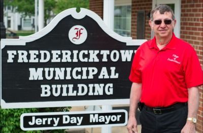 Jerry Day outside of the Fredericktown Municipal Building