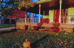 Dudgeon Family Home Front Porch on an Autumn Evening by Rita Dudgeon and Chuck Dudgeon