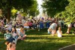 Community Sits on Lawn of Public Square in Mount Vernon for First Friday