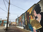 Mural on MTVarts Building in Mount Vernon by Bryant Brothers Creative