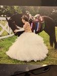 "Odalys and ""Pretty Girl"" Madonna the Horse Celebrating Odalys' Quinceañera at Fajardo Farm"