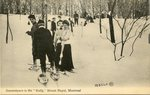 "Snowshoers in the ""Gully,"" Mount Royal"