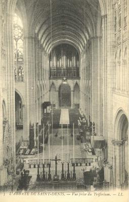 L'Abbaye de Saint-Denis - Vue prise du Triforium