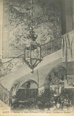 Chateau de Diane de Poitiers - Vestibule et Escalier