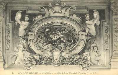 Le Château - Détail de la Cheminée François I