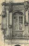 Château d'Azay-le-Rideau - Fenètre au déssus de la Porte de la Entrée principale
