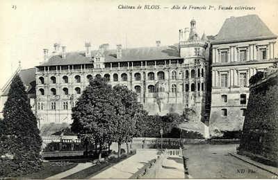 Chateau de Blois - Aile de François Ier, Façade extérieure