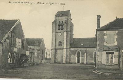 Lailly - L'Eglise et la Place