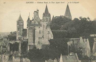 Chateau Royal, la Tour Agnes Sorel et la Collegiale