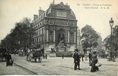 Place et Fontaine Saint-Michel