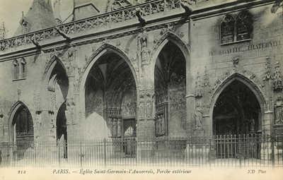 Eglise Saint-Germain-l'Auxerrois, Porche exterieur