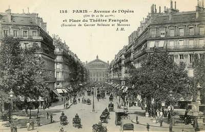 Avenue de l'Opera et Place du Theatre Francais