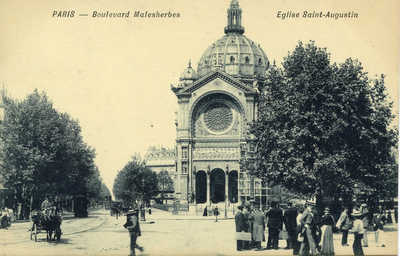 Boulevard Malesherbes - Eglise Saint-Augustin
