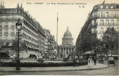 La Rue Soufflot et le Pantheon
