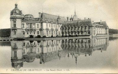 Château de Chantilly - La facade Ouest