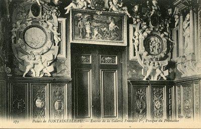 Palais de Fontainebleau - Entree de la Galeric Francois