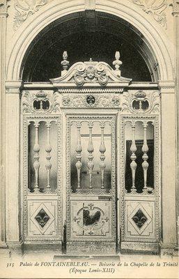 Palais de Fontainebleau - Boiserie de la Chapelle de la Trinite