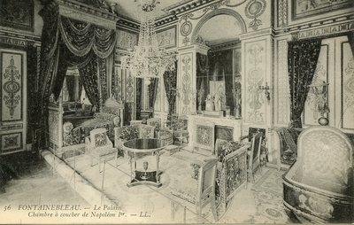 Palais de Fontainebleau - Chambre a coucher de Napoleon