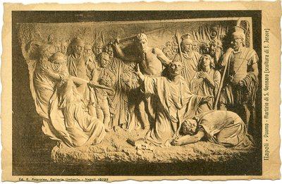 Duomo: Martirio di S. Gennaro (scultura di F. Jerace)