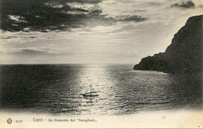 """Un tramonto dai """"faraglioni"""""""
