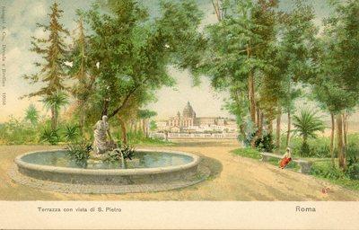 Terrazza con vista di S. Pietro