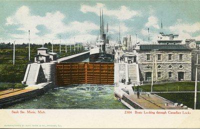Boats Locking through Canadian Locks
