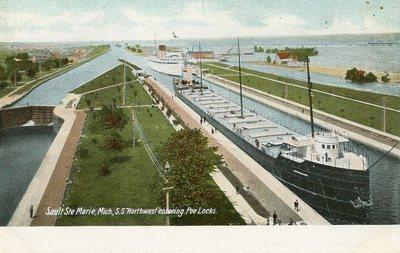S.S. Northwest entering Poe Locks