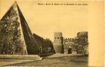 Porta S. Paolo con la Piramide di Caio Cestio