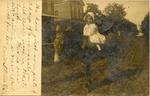Little girl on donkey